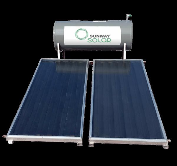 calentador solar con dos paneles