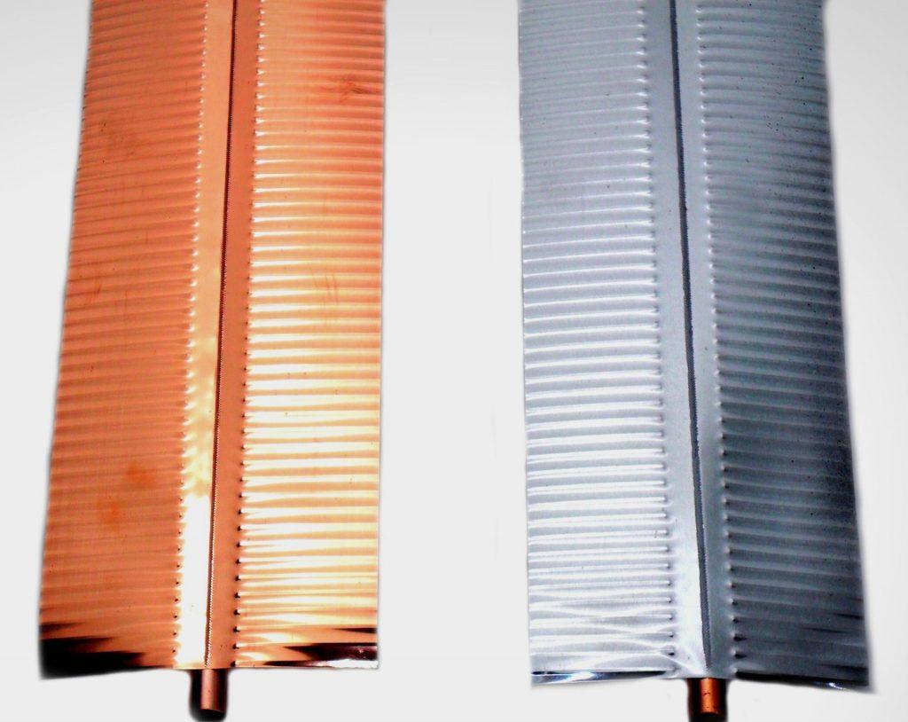 Paletas captadoras de energia en cobre y aluminio