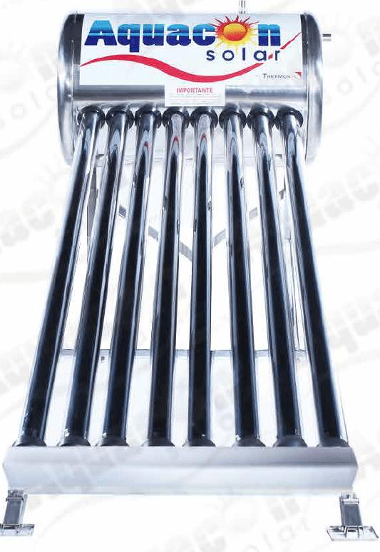 Calentador Solar de Tubos al Vacio de 8 tubos